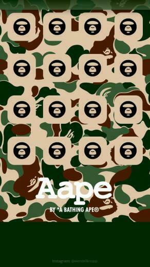 Background A Bathing Ape for IPhone 5s Start screen Click