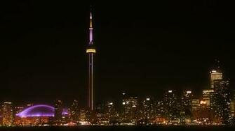 Toronto Skyline Night Wallpaper Garish Toronto Skyline by