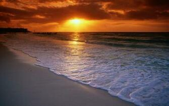 sunset beach wallpaper