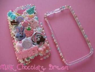 Girly Sweet Pearl Decoden Phone Case by Frainy