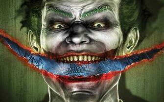 Slash Smile Joker   Batman Arkham Asylum Wallpaper
