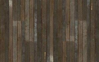 Get the look of eclectic wood paneling without the splinters with the