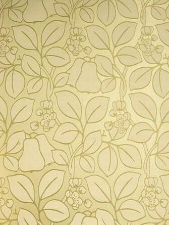 Gold Floral Wallpaper Pears Wallpaper GPJ Baker Holcott 2011