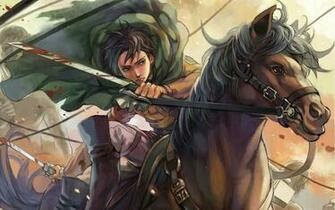 horse riding titan attack on titan shingeki no kyojin hd wallpaper