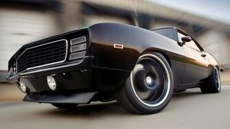 Black 69 Chevrolet Camaro Wallpaper   HD