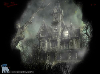 Halloween Mansion Animated Wallpaper image The scary animated desktop