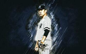 Download wallpapers Masahiro Tanaka MLB New York Yankees blue