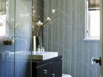 contemporary bathroom wallpaper 2015   Grasscloth Wallpaper