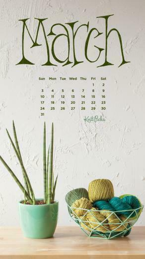 Downloadable March 2019 Calendar   KnitPicks Staff Knitting Blog