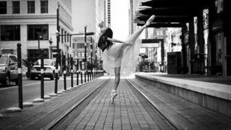 Wallpaper city dancer street Ballet dancer on a city street