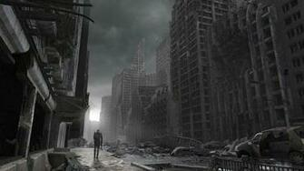 Destroyed City Zombie Background Related Keywords
