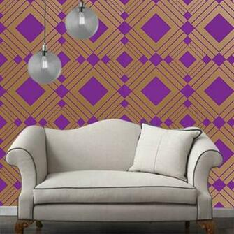 Temporary Wallpaper   Diamond   Metallic GoldViolet