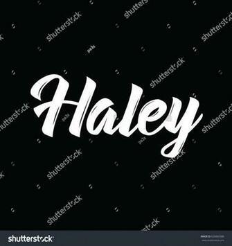 Haley Text Design Vector Calligraphy Typography Stock Vector