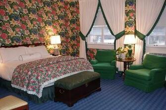 Room in the Main Hotel Decorated in Typical Dorothy Draper Style