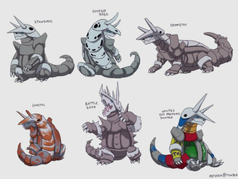 Aggron Variations by NimbusOwl49