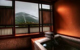The Peaceful Ryokan Baths of Hakone widescreen wallpaper Wide