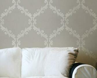 Large Wall Stencil Acanthus Trellis Allover Stencil Great Alternatiive