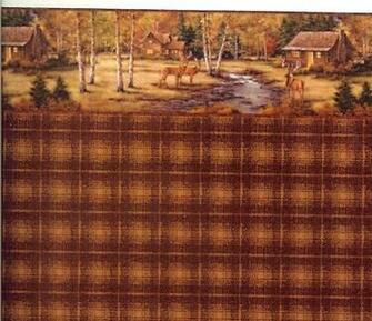 Dollhouse Wallpaper Stripe Plaid Wallpaper Log Cabin Plaid