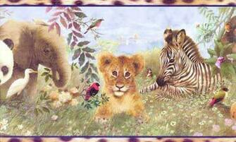 Zoo Animals Wallpaper Border Wallpaper Border YH1597BD   Wallpaper
