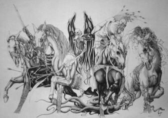 Horsemen of the Apocalypse religion revelations dark horror weapons