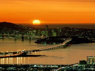 San Francisco Sunset backgrounds Wallpaper High Quality