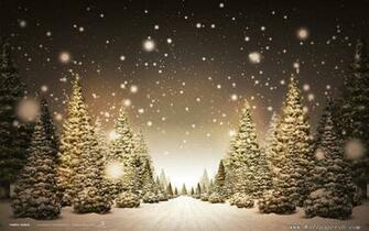 winter snow christmas trees Landscape Wallpapers