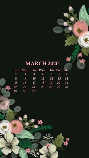 iPhone March 2020 Calendar Wallpaper in 2019 Calendar wallpaper
