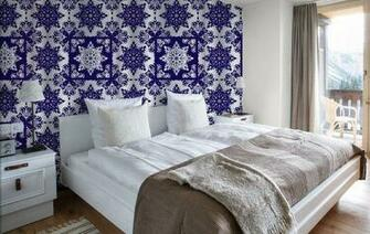 Blue Tile Pattern Wallpaper Removable Wallpaper for sale in Richmond