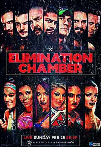download WWE Elimination Chamber 2018 Poster Wallpaper by