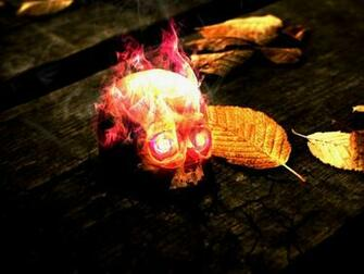 flames skulls red yellow wood fire dead leaves textures glow flaming