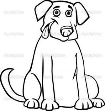 Cartoon Black And Yellow Labrador Retriever Foto Artis   Candydoll