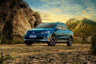 110081 blue Volkswagen Saveiro Cross CD pickup Cars and