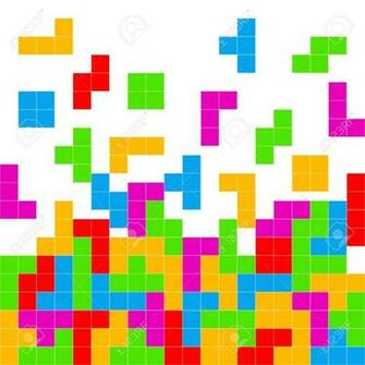 Tetris Game Playing Background Stock Photo Picture And Royalty