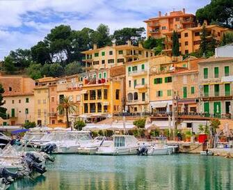 Wallpaper Majorca Mallorca Spain Puerto Soller Pier Yacht Cities