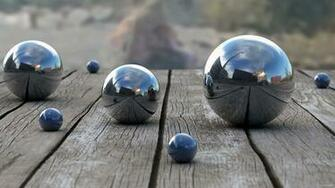 Balls Wood Reflection depth 3d bokeh wallpaper 2560x1440 48948