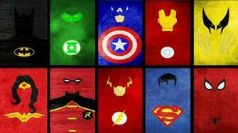 Superhero Logos Wallpaper Images Pictures   Becuo