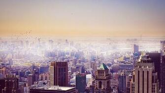 Hazy City Wallpaper 6797653