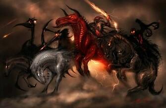 Horsemen of the Apocalypse dark horror religion fantasy art horse