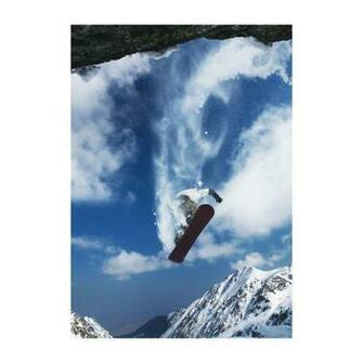 Portrait Cliff Snow Boarding Removable Wallpaper Mural Lowes Canada