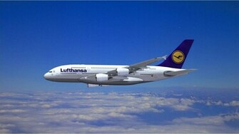 Lufthansa Airlines Airbus A380 Wallpaper   HQ Wallpapers download