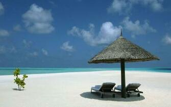 Tropical paradise island atoll white sand beach HQ WALLPAPER   95497