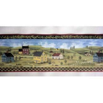 Rolling Borders Primitive Countryside Country Wallpaper Border