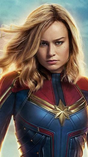 Brie Larson Captain Marvel 2019 1080x1920 iPhone 8766S Plus