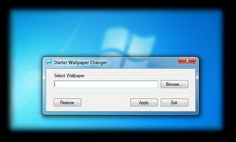 allows you Windows 7 Starter user to change your laptopPC wallpaper