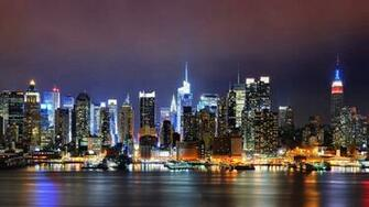 New York city light building wallpaper city wallpaper