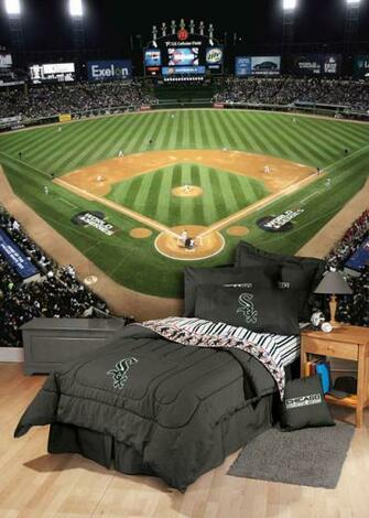 8x12 feet US Cellular Field 2005 World Series Photo Mural Wallpaper