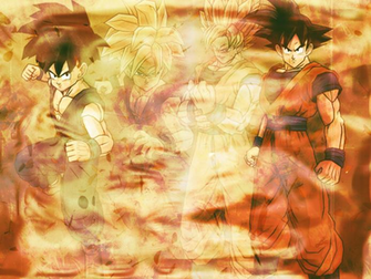 Goku and Gohan Wallpaper by Linkhare on deviantART
