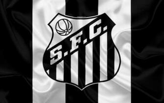 Download wallpapers Santos FC Brazilian football club emblem