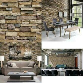 Stone Peel And Stick Wallpaper   Self Adhesive Wallpaper   Use As