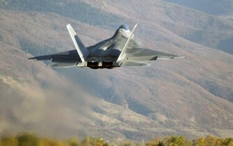 F22 over hills wallpapers F22 over hills stock photos